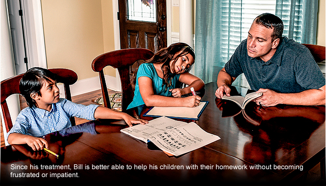 Bill helping kids with their homework